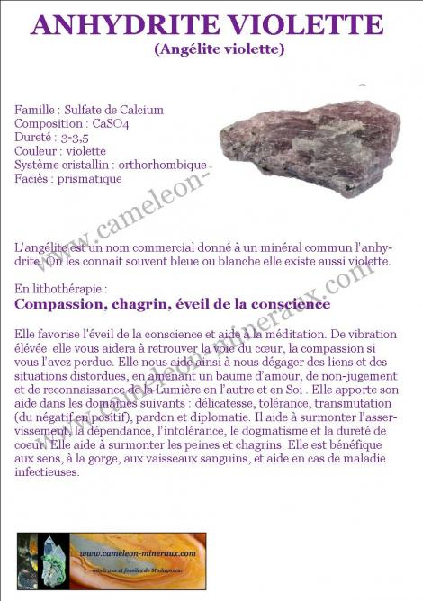 Anhydrite violette